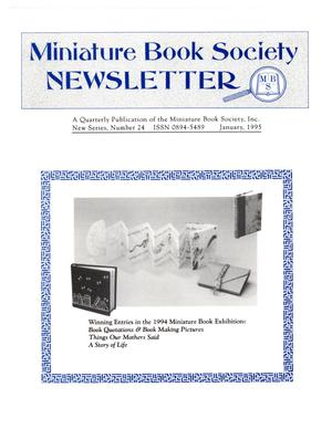 Miniature Book Society Newsletter 1995 January