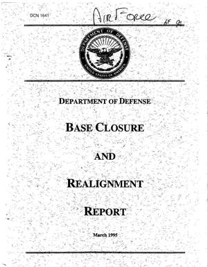 Primary view of object titled '1995 BRAC Report to the President and Supporting Reports'.