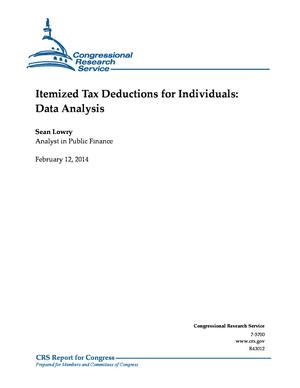 Itemized Tax Deductions for Individuals: Data Analysis