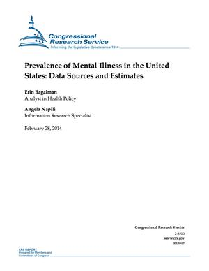 Prevalence of Mental Illness in the United States: Data Sources and Estimates