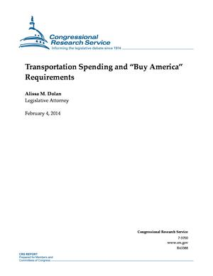 "Transportation Spending and ""Buy America"" Requirements"