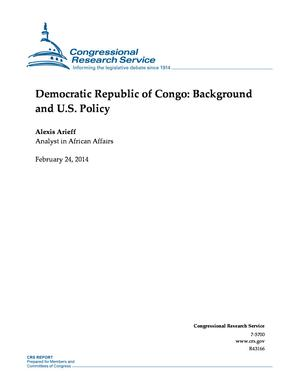 Democratic Republic of Congo: Background and U.S. Policy