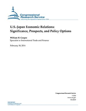 U.S.-Japan Economic Relations: Significance, Prospects, and Policy Options