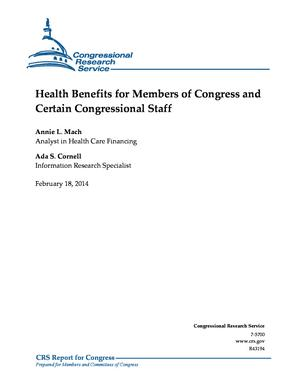 Health Benefits for Members of Congress and Certain Congressional Staff