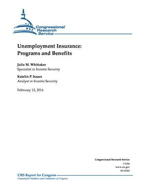 Unemployment Insurance: Programs and Benefits