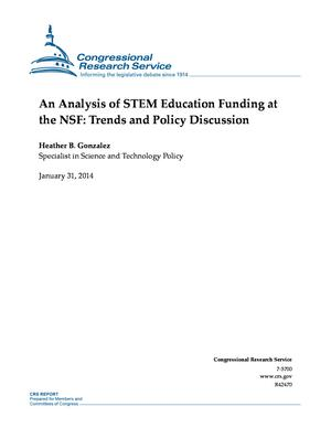 An Analysis of STEM Education Funding at the NSF: Trends and Policy Discussion