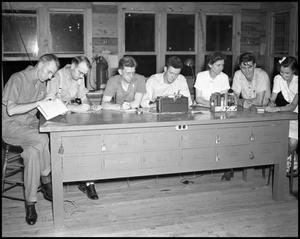 Primary view of object titled '[Students in a Radio Class]'.