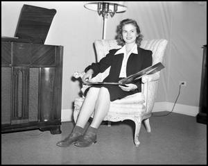 Primary view of object titled '[Billie Wolfe Sitting in a Chair]'.