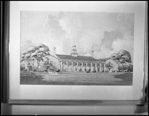 Primary view of object titled '[Architect's Rendering of Union Building]'.