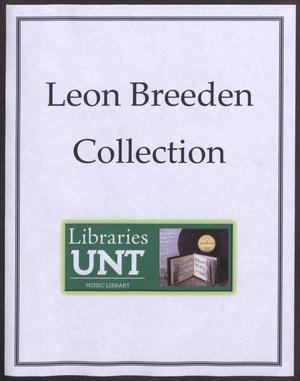 Primary view of object titled '[Leon Breeden Scrapbook: 1960]'.