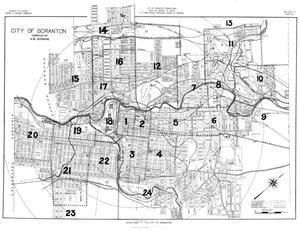 Primary view of object titled 'Index Map of the City of Scranton'.