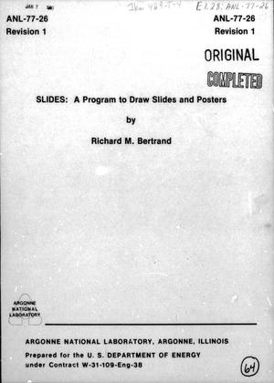 Primary view of object titled 'SLIDES: a Program to Draw Slides and Posters'.