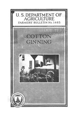Primary view of object titled 'Cotton ginning.'.