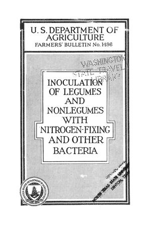 Primary view of object titled 'Inoculation of legumes and nonlegumes with nitrogen-fixing and other bacteria.'.