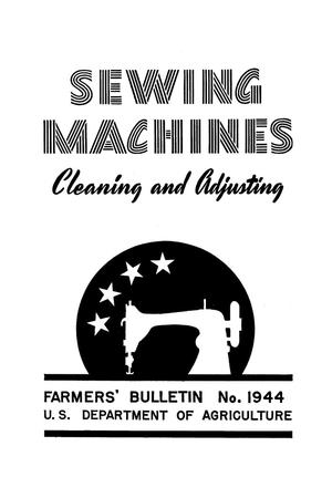 Primary view of object titled 'Sewing machines: cleaning and adjusting.'.