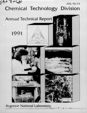 Primary view of object titled 'Chemical Technology Division Annual Technical Report: 1991'.