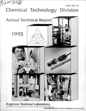 Primary view of object titled 'Chemical Technology Division Annual Technical Report: 1993'.