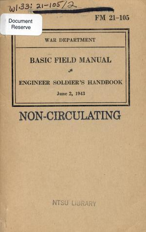 Primary view of object titled 'Engineer soldier's handbook.'.