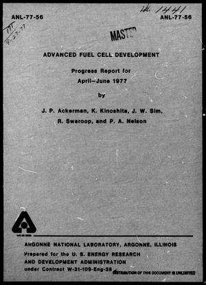 Primary view of object titled 'Advanced Fuel Cell Development Progress Report: April-June 1977'.