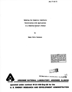 Primary view of object titled 'Updating the Symmetric Indefinite Factorization with Applications in a Modified Newton's Method: A Dissertation submitted in partial satisfaction of the requirements for the degree Doctor of Philosphy in Mathematics'.