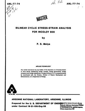 Primary view of object titled 'Bilinear Cyclic Stress-Strain Analysis for Incoloy 800'.