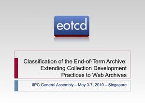 Classification of the End-of-Term Archive: Extending Collection Development Practices to Web Archives
