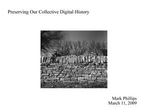 Primary view of object titled 'Preserving Our Collective Digital History'.