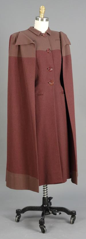 Primary view of object titled 'Ensemble - Cape Coat and Dress'.