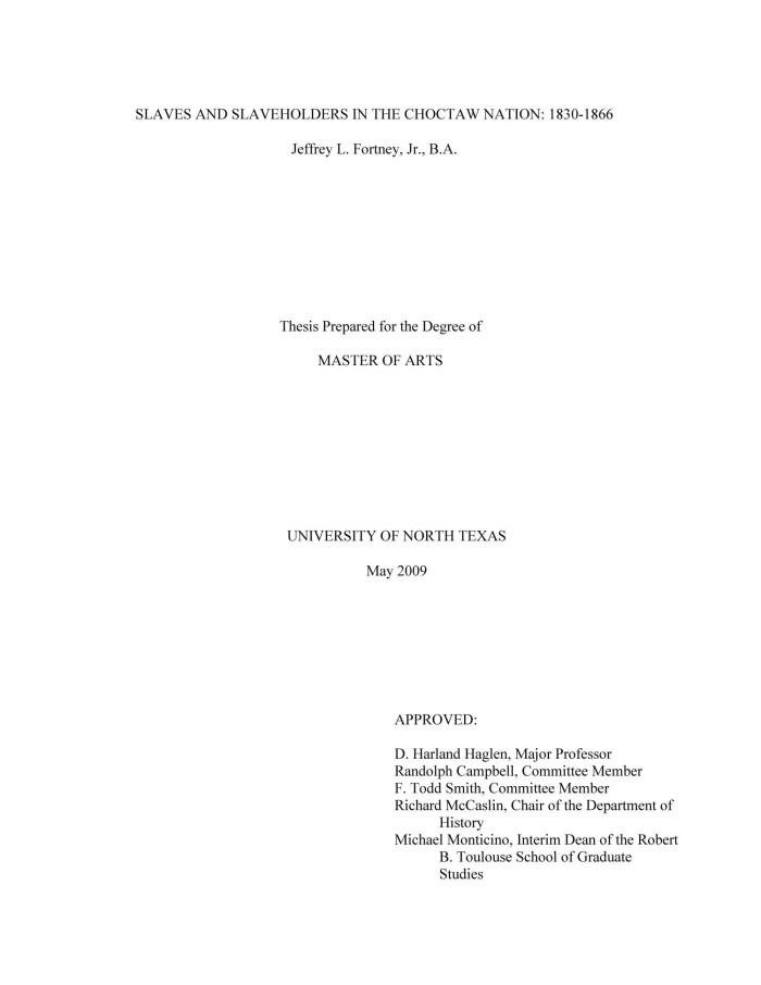 Richard dechant jr masters thesis
