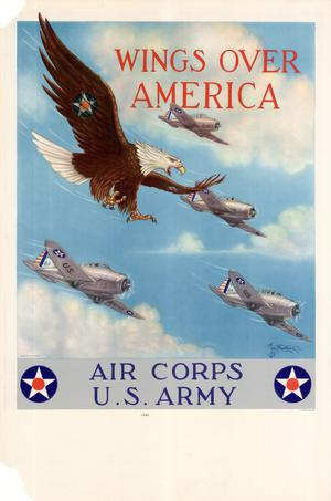 Primary view of object titled 'Wings over America : Air Corps, U.S. Army.'.