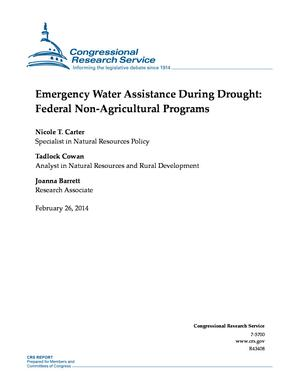 Emergency Water Assistance During Drought: Federal Non-Agricultural Programs