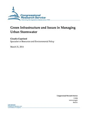 Green Infrastructure and Issues in Managing Urban Stormwater