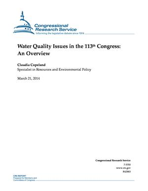 Water Quality Issues in the 113th Congress: An Overview