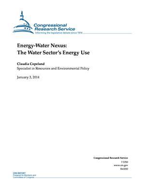 Energy-Water Nexus: The Water Sector's Energy Use