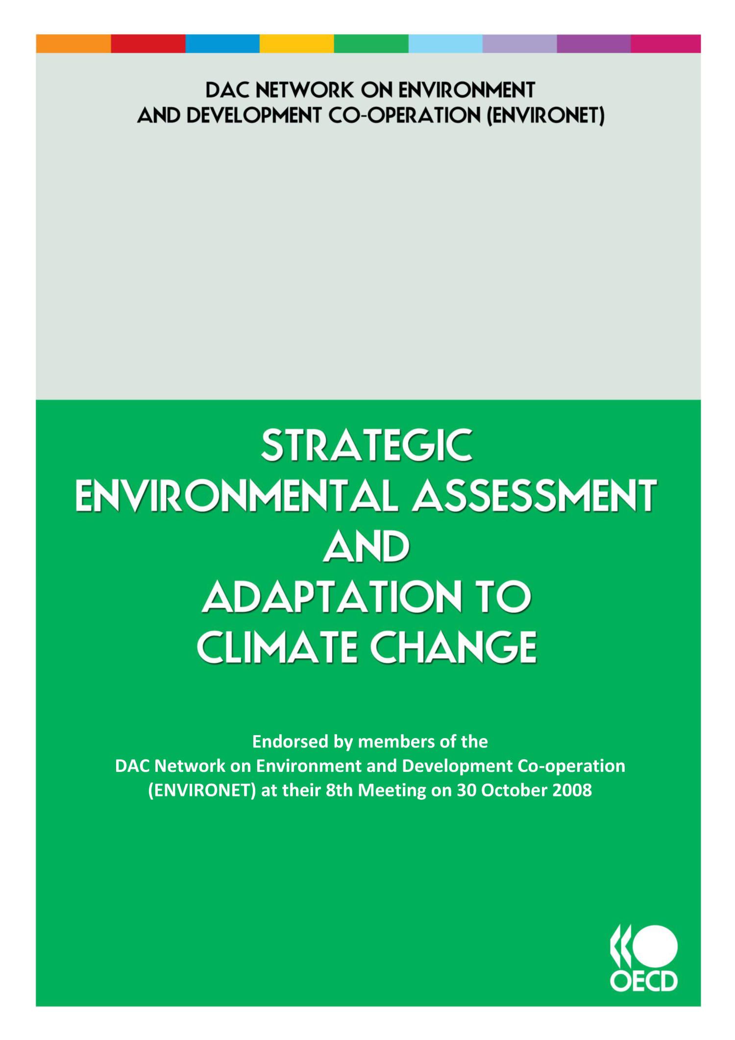 Strategic Environmental Assessment and Adaptation to Climate Change                                                                                                      Front Cover