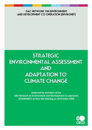 Strategic Environmental Assessment and Adaptation to Climate Change