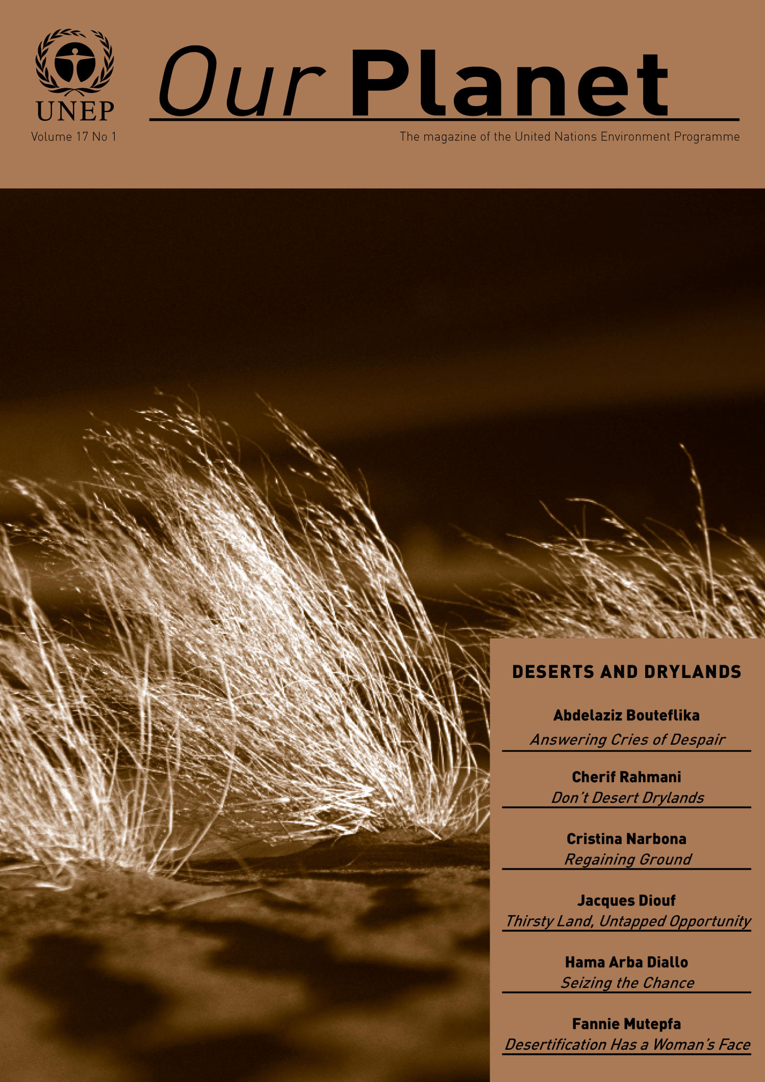 Our Planet, Volume 17, Number 1 : Deserts and Drylands                                                                                                      Front Cover