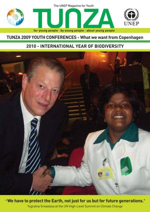 Primary view of object titled 'Tunza: The UNEP Magazine for Youth, Volume 7, Number 3, 2009'.
