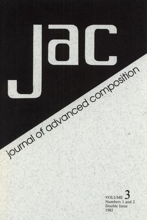 Primary view of object titled 'Journal of Advanced Composition, Volume 3, Numbers 1 & 2, Spring & Fall, 1982'.