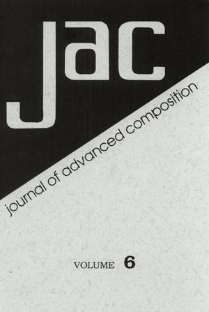 Primary view of object titled 'Journal of Advanced Composition, Volume 6, 1985-1986'.