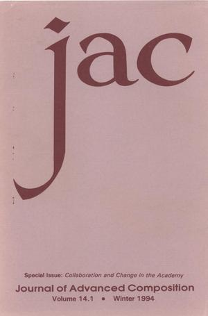 Primary view of object titled 'Journal of Advanced Composition, Volume 14, Number 1, Winter 1994'.