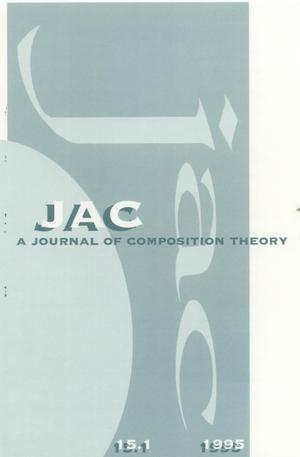 Primary view of object titled 'JAC: A Journal of Composition Theory, Volume 15, Number 1, 1995'.