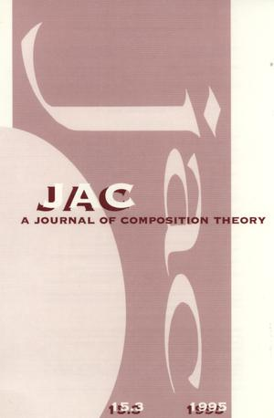 Primary view of object titled 'JAC: A Journal of Composition Theory, Volume 15, Number 3, 1995'.