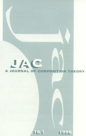 Primary view of object titled 'JAC: A Journal of Composition Theory, Volume 16, Number 1, 1996'.