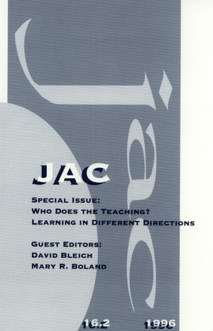 Primary view of object titled 'JAC: A Journal of Composition Theory, Volume 16, Number 2, 1996'.