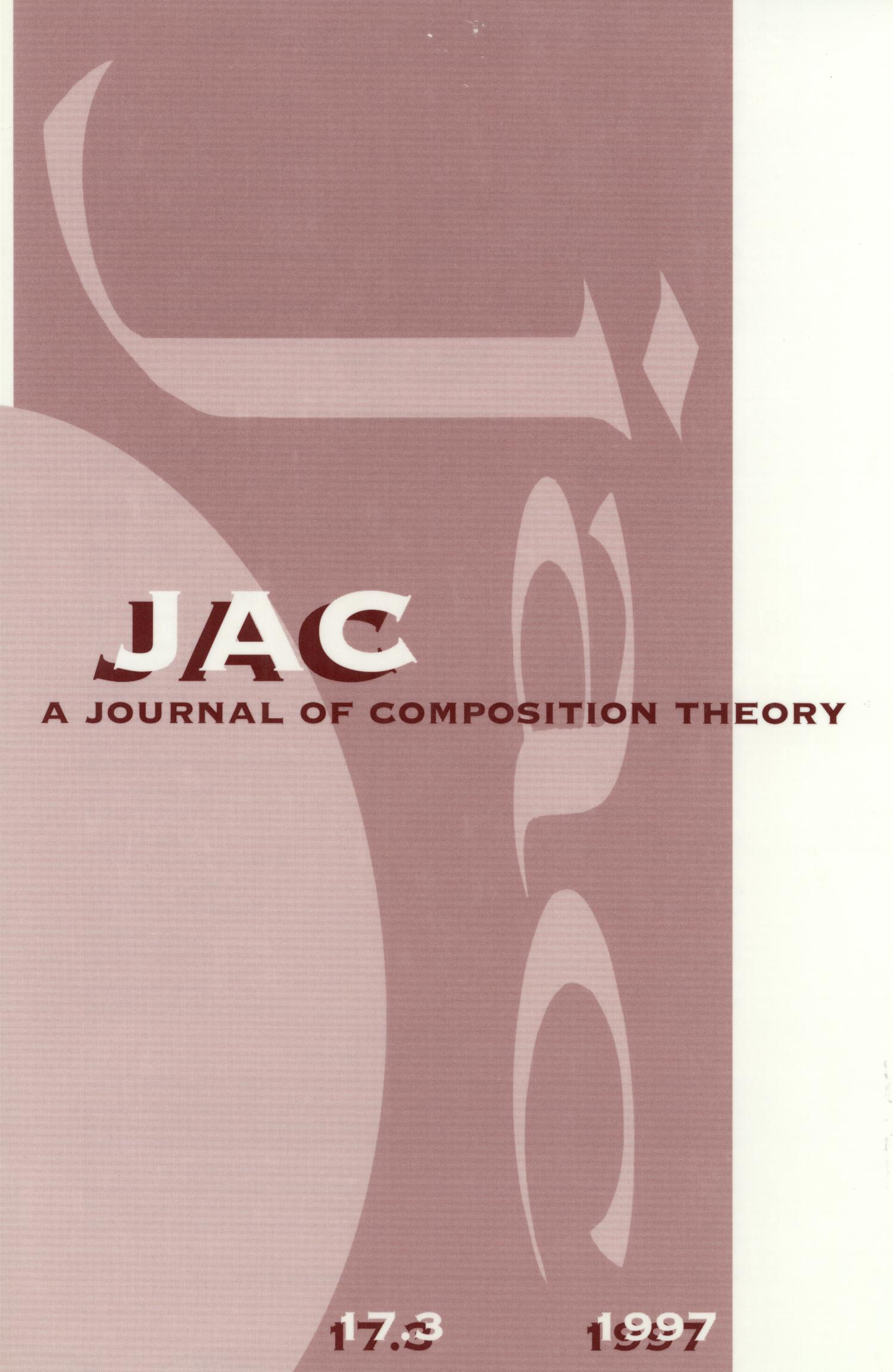 JAC: A Journal of Composition Theory, Volume 17, Number 3, 1997                                                                                                      Front Cover