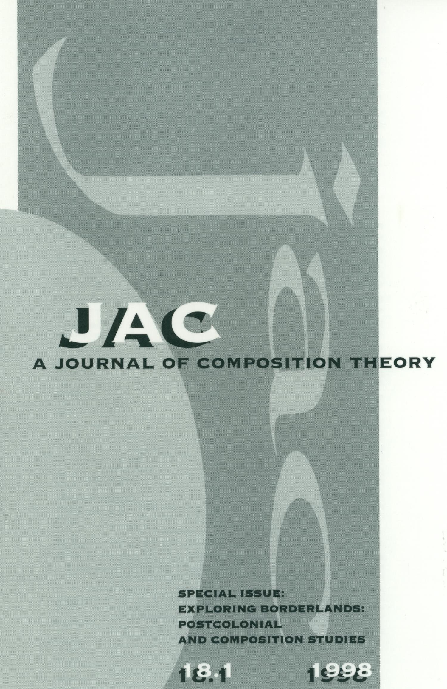 JAC: A Journal of Composition Theory, Volume 18, Number 1, 1998                                                                                                      Front Cover