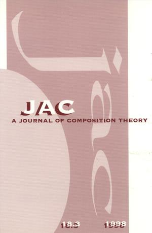 Primary view of object titled 'JAC: A Journal of Composition Theory, Volume 18, Number 3, 1998'.