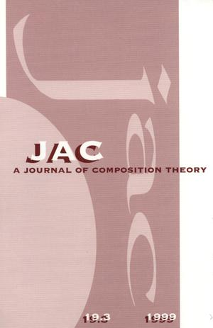 Primary view of object titled 'JAC: A Journal of Composition Theory, Volume 19, Number 3, 1999'.