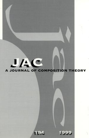 Primary view of object titled 'JAC: A Journal of Composition Theory, Volume 19, Number 4, 1999'.